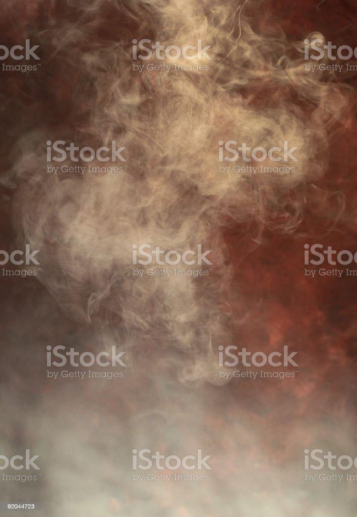 White smoke with reddish background royalty-free stock photo