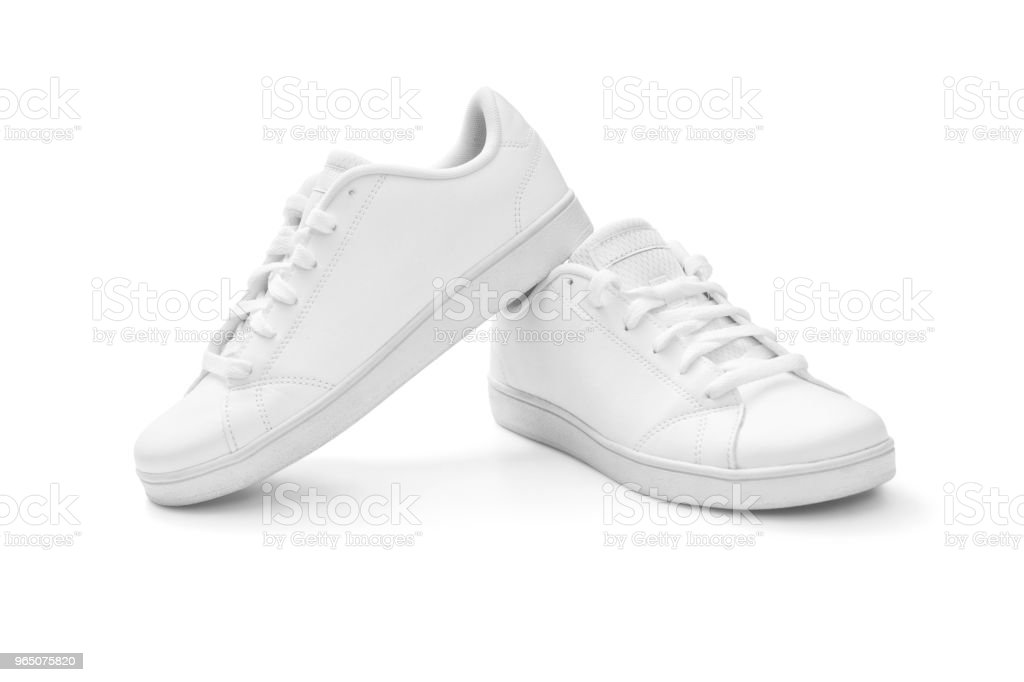 White sneakers royalty-free stock photo