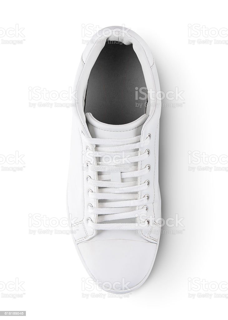 White sneakers with clipping path stock photo