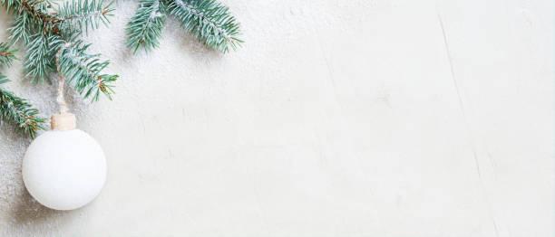 White snow christmas banner with christmas tree branch and ball picture id1172710488?b=1&k=6&m=1172710488&s=612x612&w=0&h=bikwa3fq xac2e ydf1csiteo310let0vpr1ni uo4e=