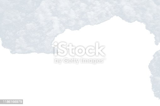 istock White snow hat isolated on a white background with empty place for text. 1186166979
