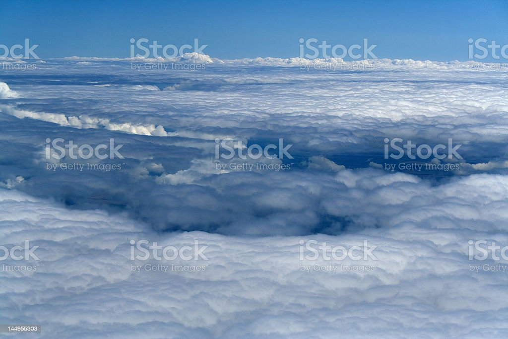 white snow plain of clouds stock photo