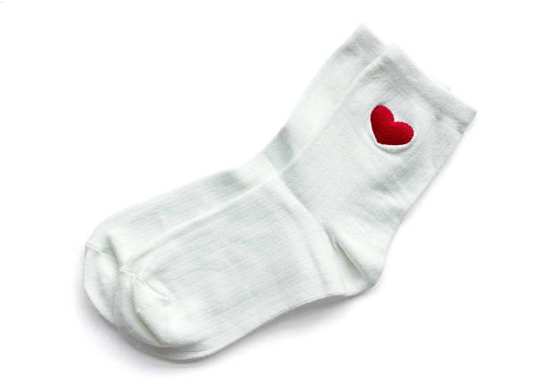 white socks isolated on white stock photo