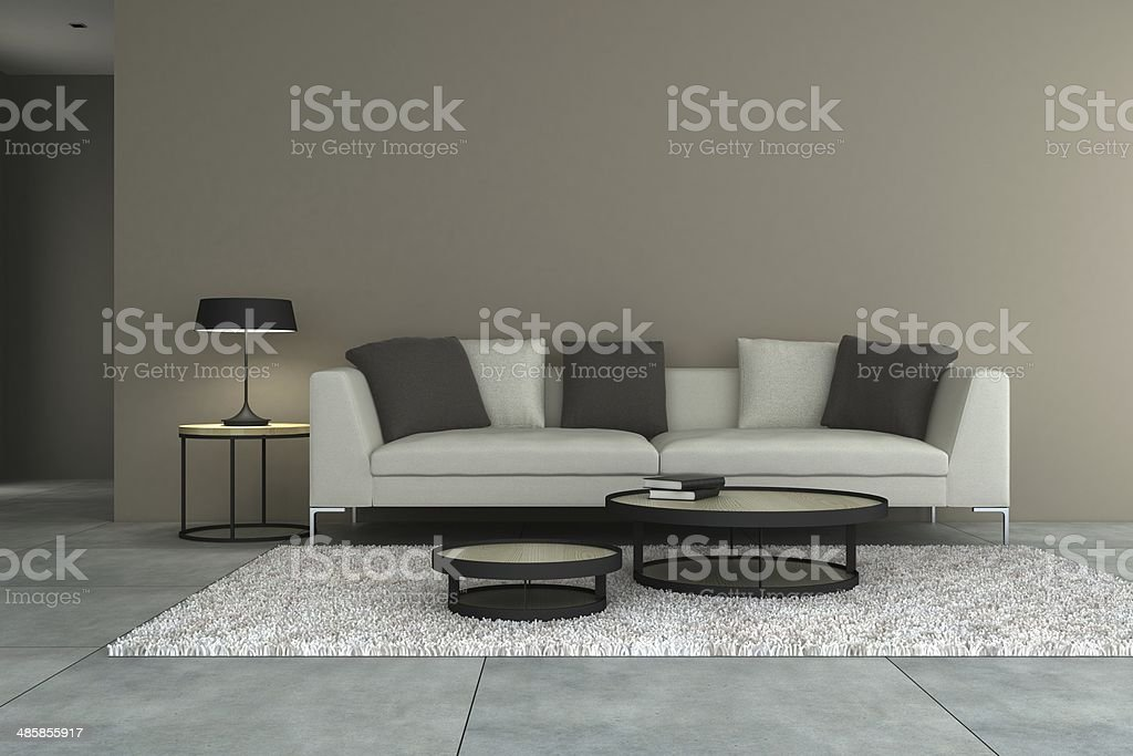 Sensational White Sofa And Gray Walls Stock Photo Download Image Now Gamerscity Chair Design For Home Gamerscityorg