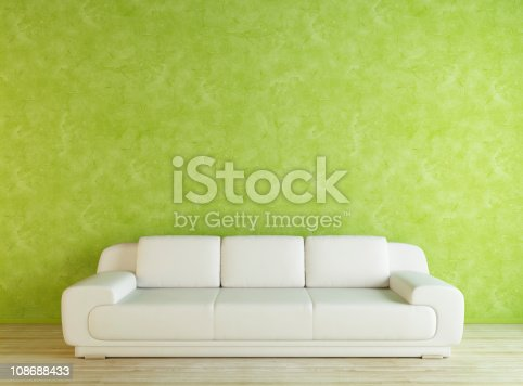 629801250istockphoto White Sofa and Green Wall 108688433