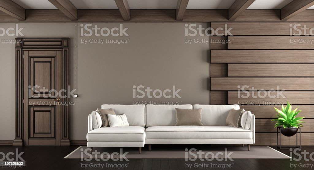 White Sofa In A Elegant Living Room Stock Photo Download Image Now Istock