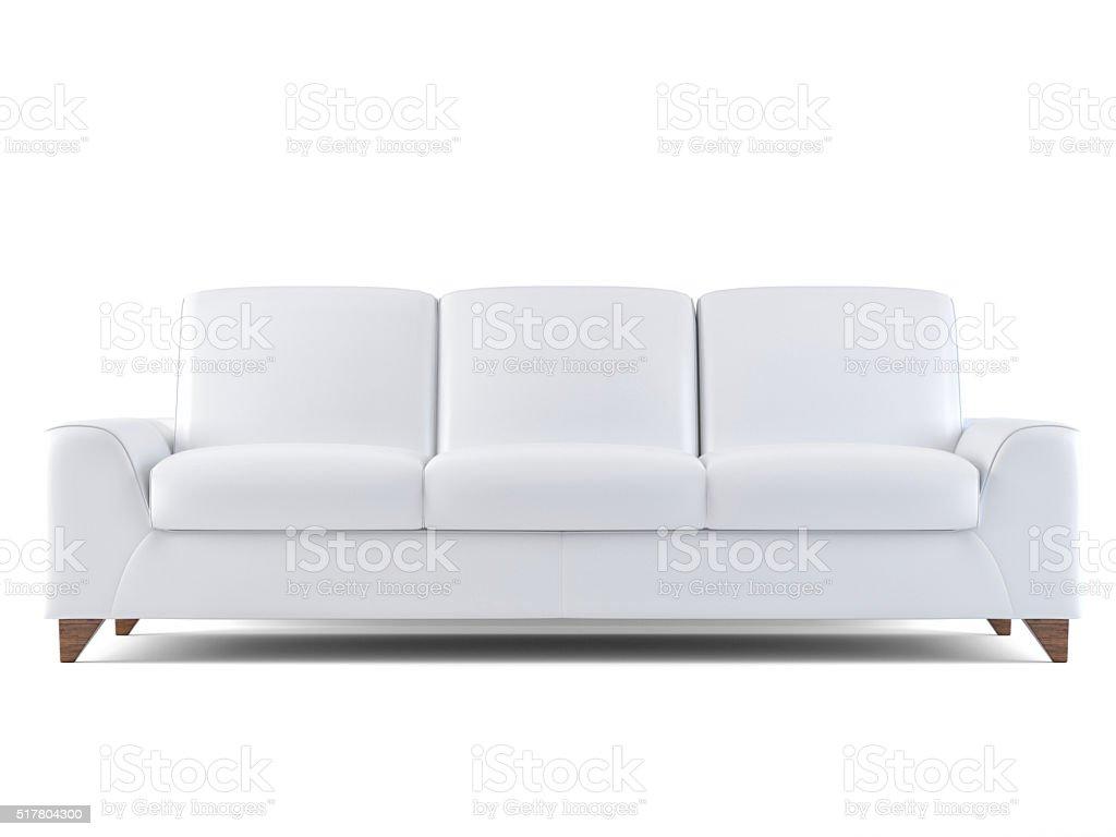 White sofa isolated on white stock photo