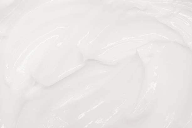 White soft cream texture, organic background stock photo