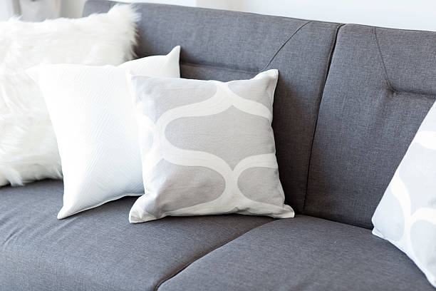 White soft cushion stock photo