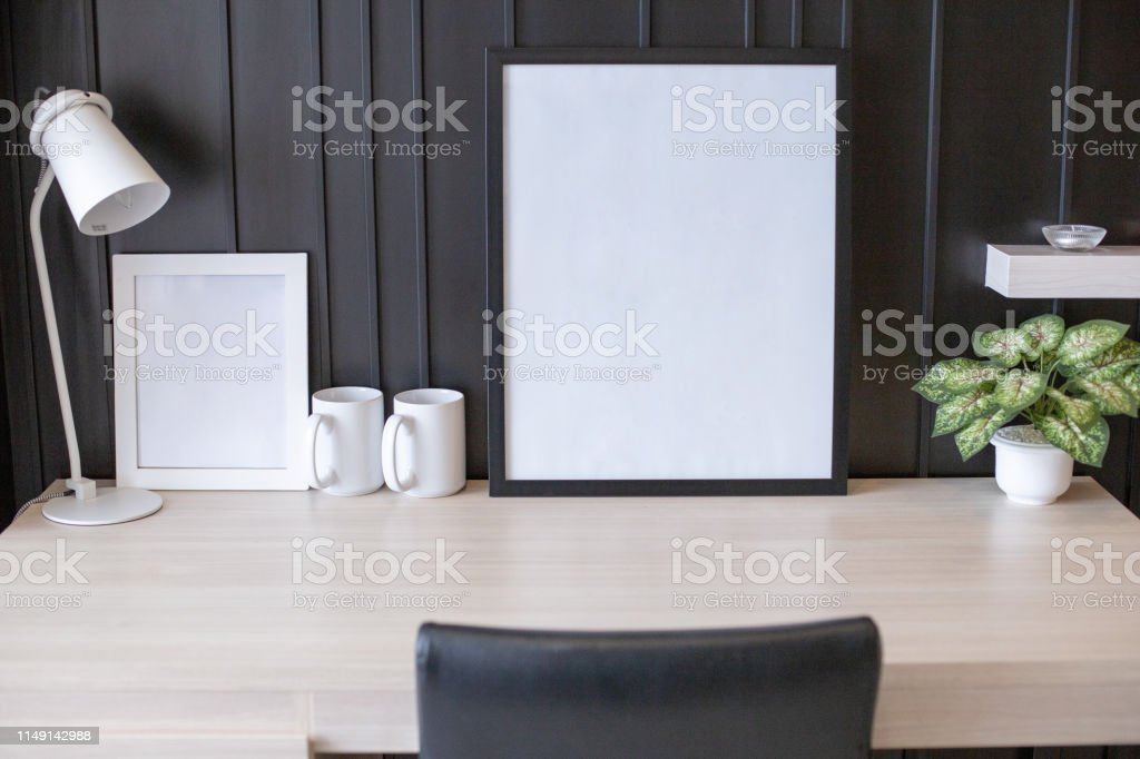 White space in picture frame.