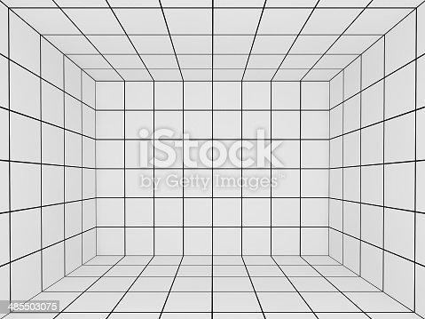wei er raum mit perspektive grid 3d stock fotografie und mehr bilder von abstrakt istock. Black Bedroom Furniture Sets. Home Design Ideas