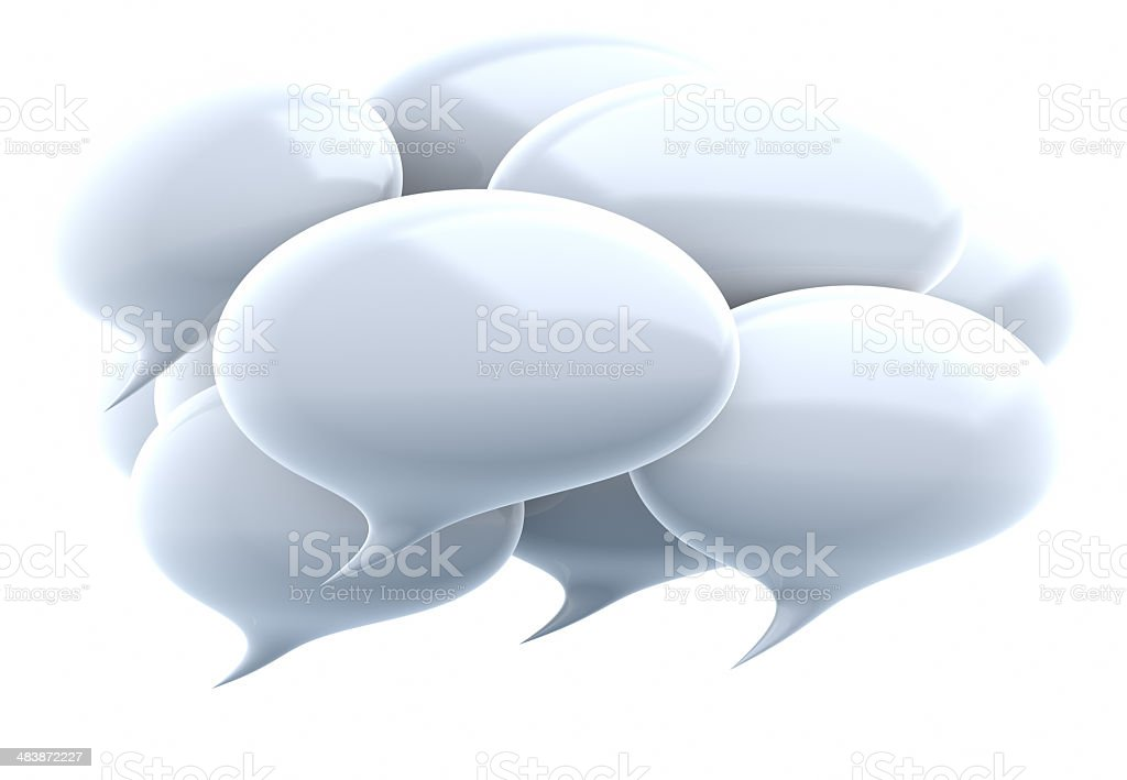 White Speech Bubbles royalty-free stock photo