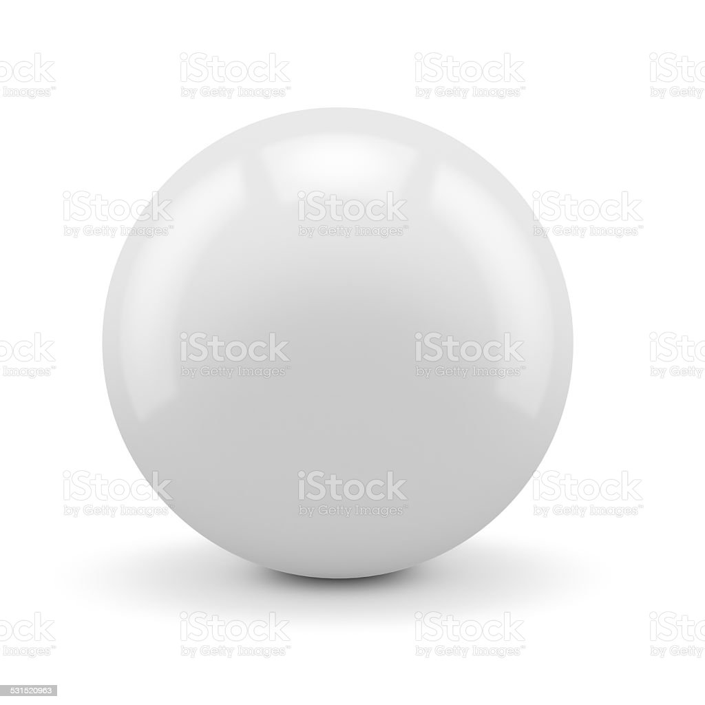 White sphere isolated stock photo