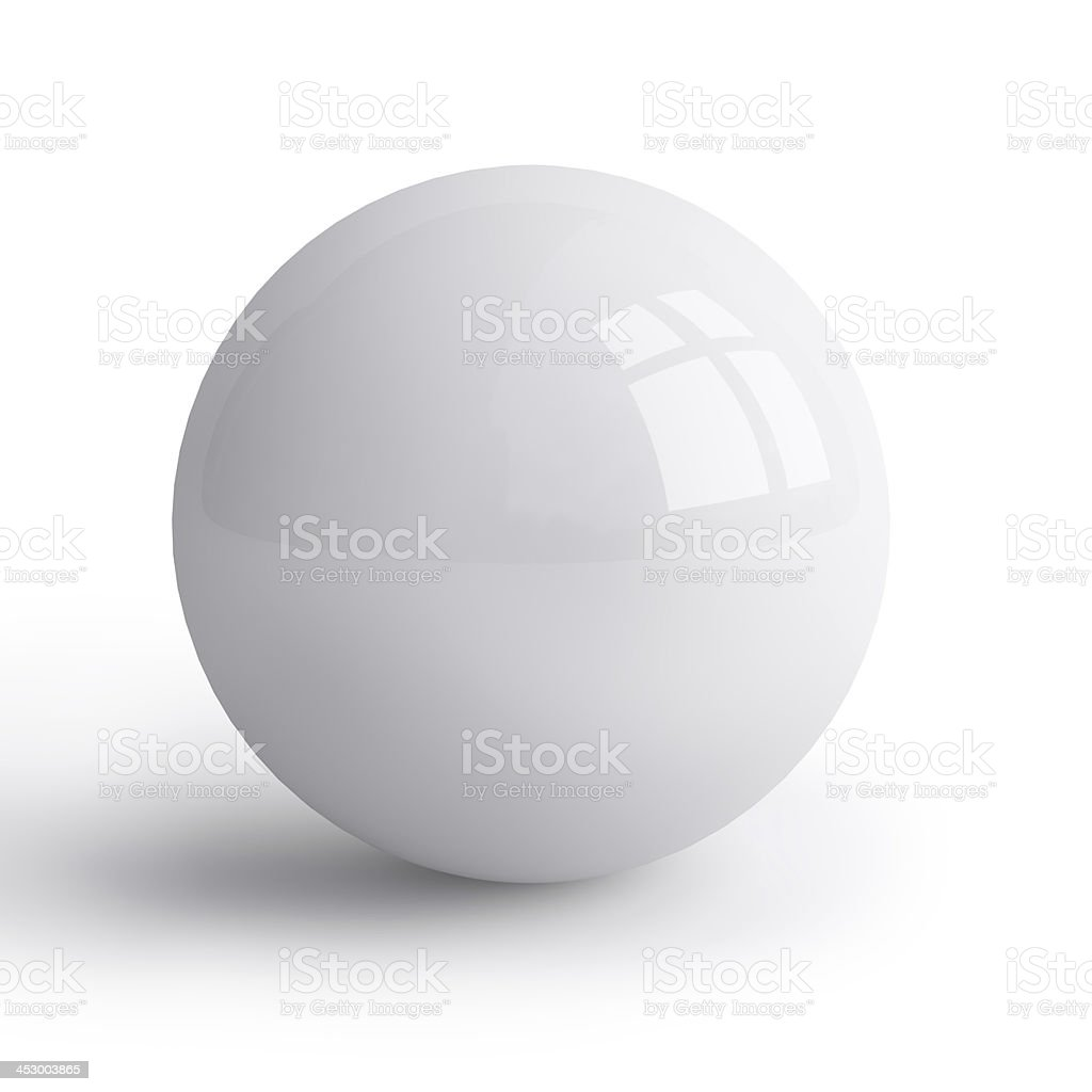 white sphere stock photo
