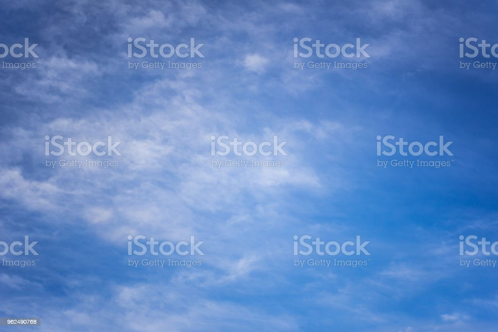 White spindrift clouds on blue sky - Royalty-free Abstract Stock Photo