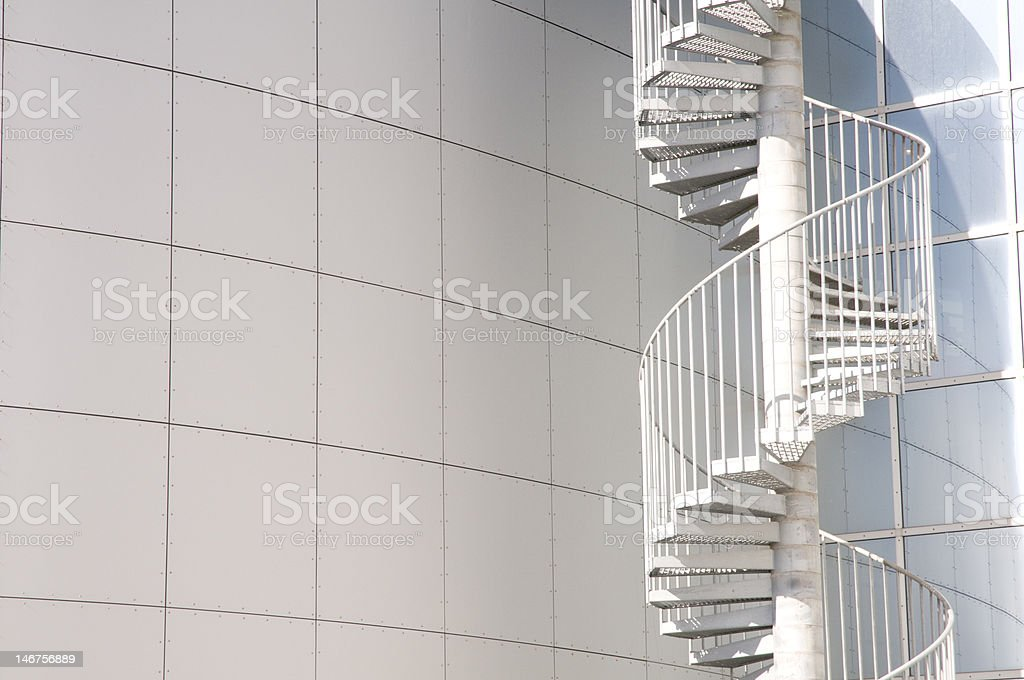 White Spiral Staircase royalty-free stock photo