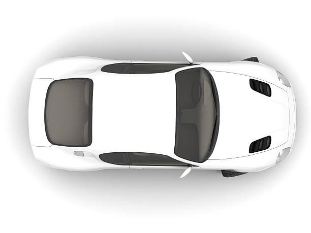 white sportcar stock photo