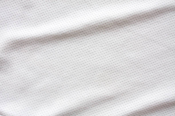 white sports clothing fabric jersey - mesh textile stock photos and pictures