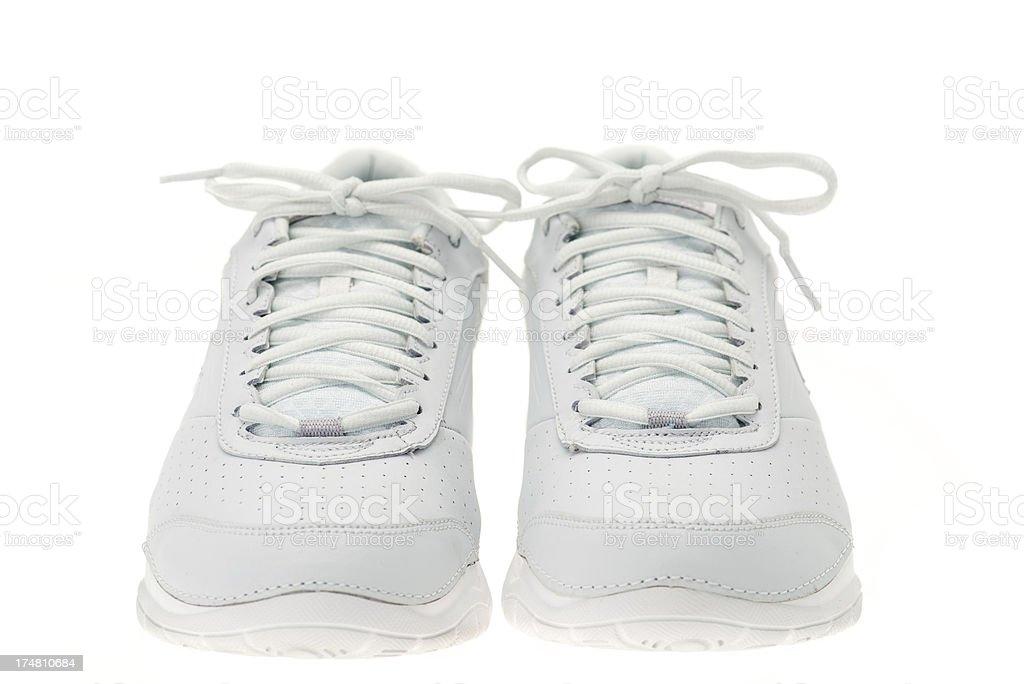 White sports shoes royalty-free stock photo