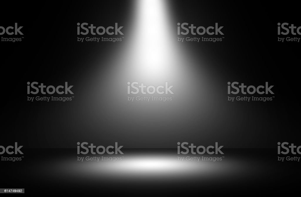 White spotlight show studio. stock photo