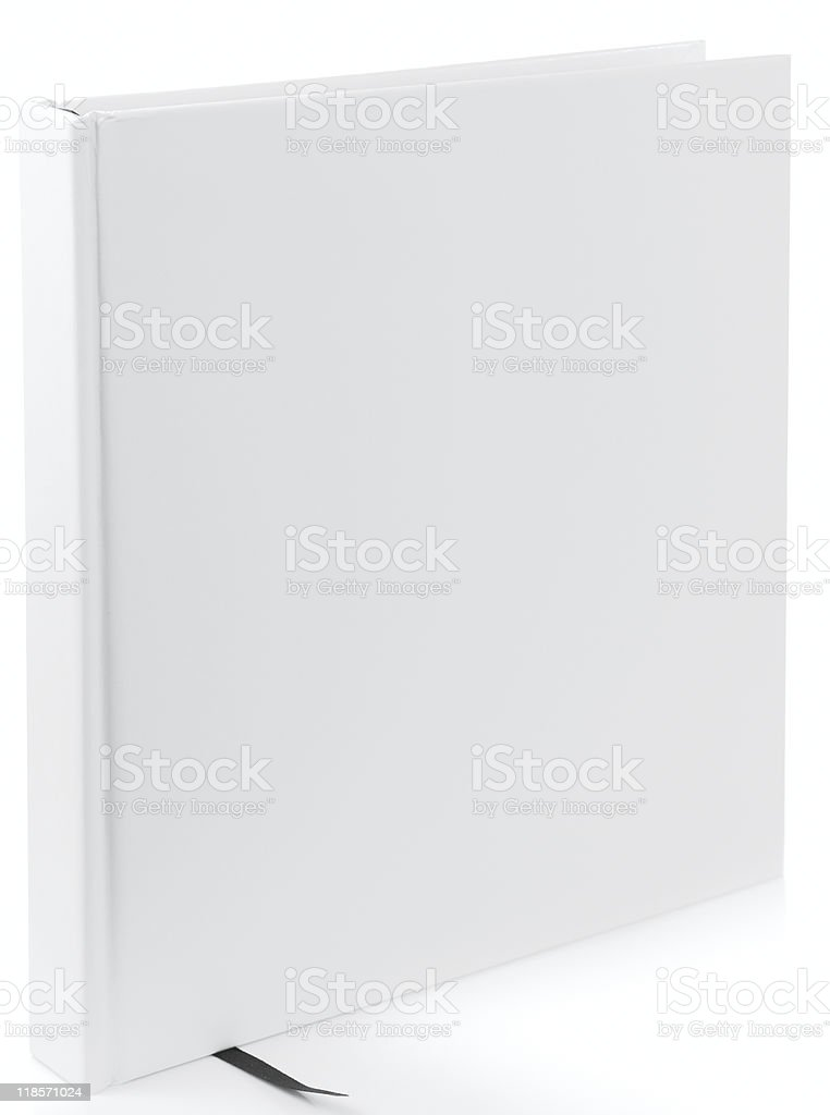 White square book isolated on whiter background stock photo