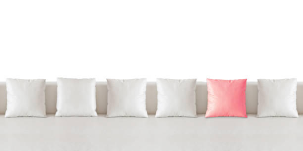 Surprising White Square Pillow On White Sofa Stock Photo Download Gmtry Best Dining Table And Chair Ideas Images Gmtryco
