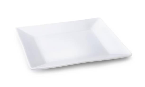 Blanc Assiette carrée - Photo