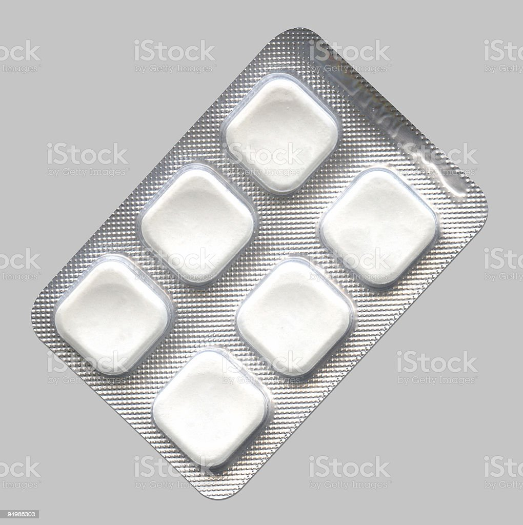 White square tablets royalty-free stock photo
