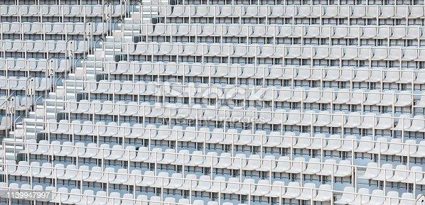 White Stadium Seating
