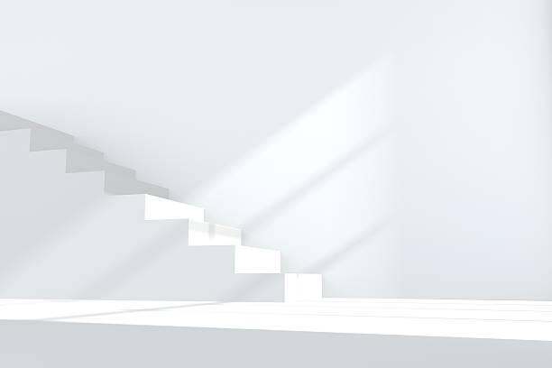 escalera blanca - escalón y escalera fotografías e imágenes de stock