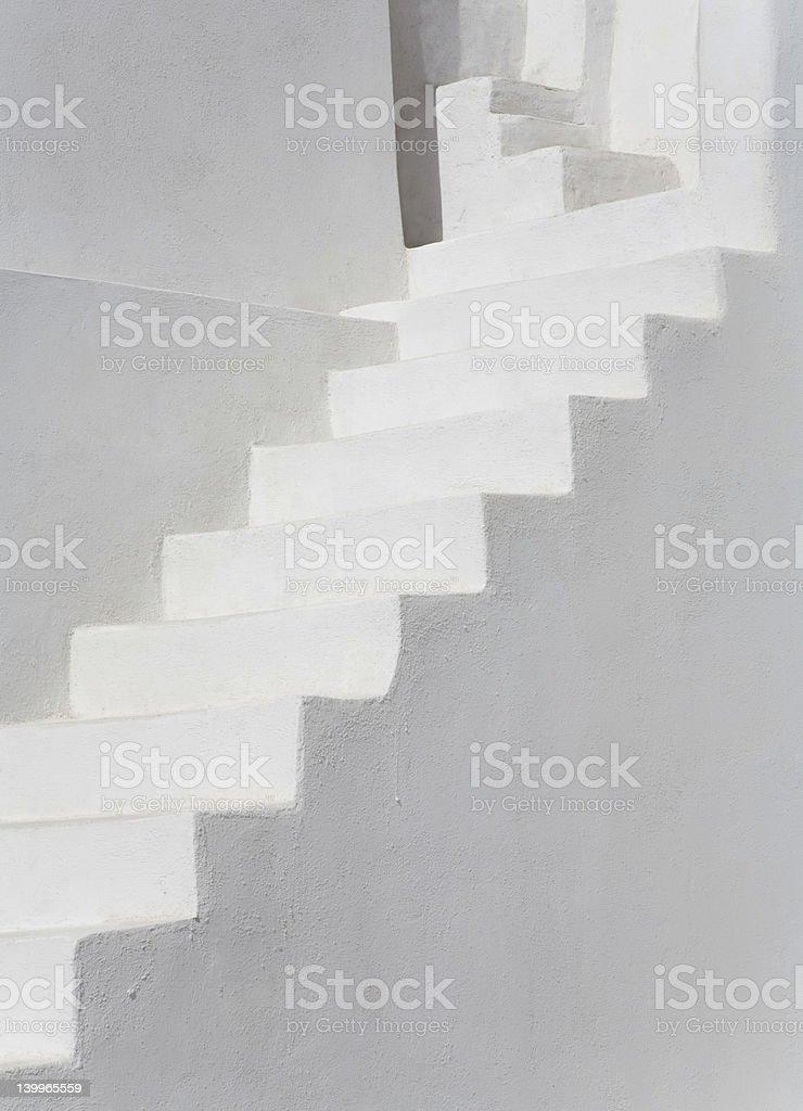 White Stairs royalty-free stock photo