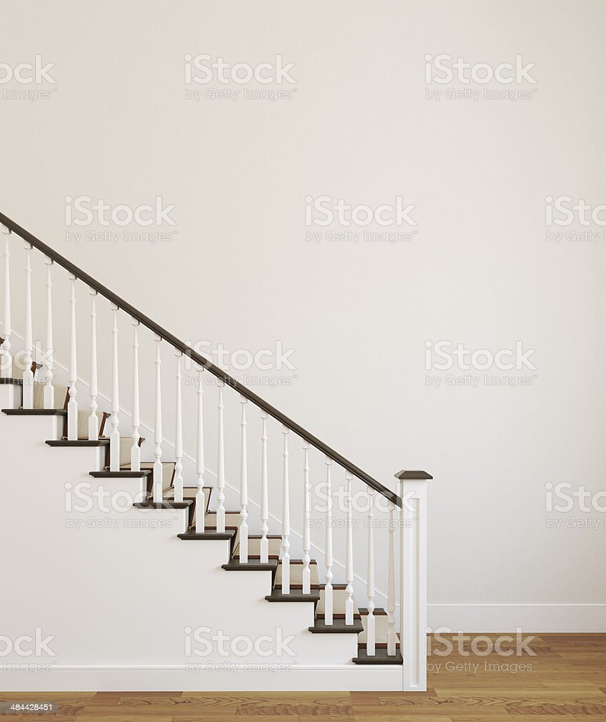 White stairway. stock photo