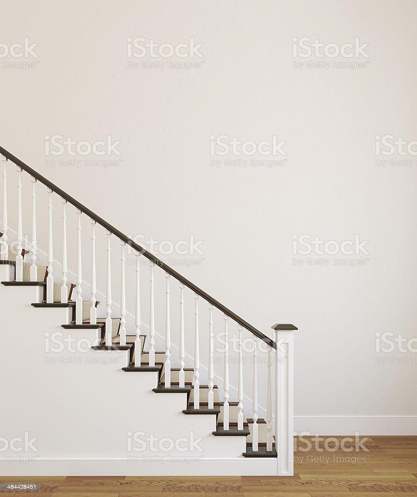 White stairway. stock photo