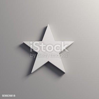 871072052 istock photo White Star Icon. 3D Render Illustration 926926618