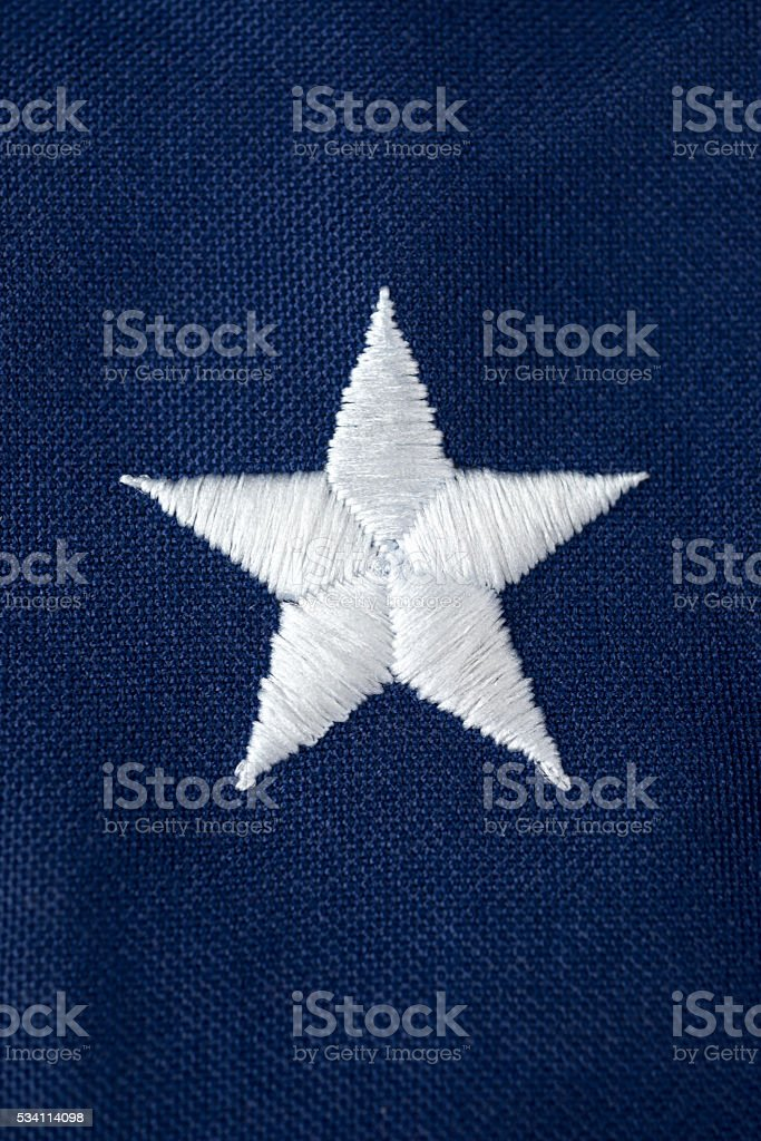 White Stars on American Flag stock photo