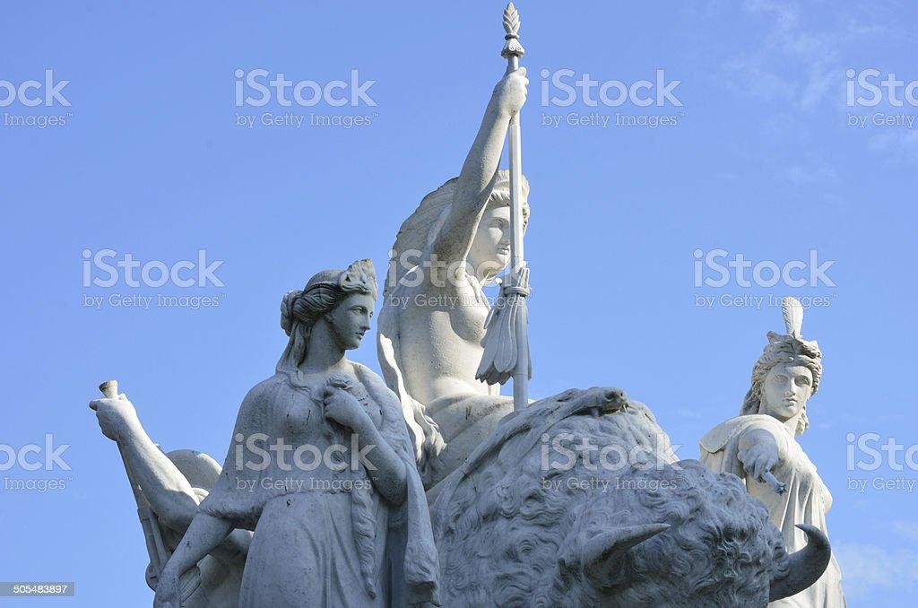 white statue at Albert Memorial royalty-free stock photo