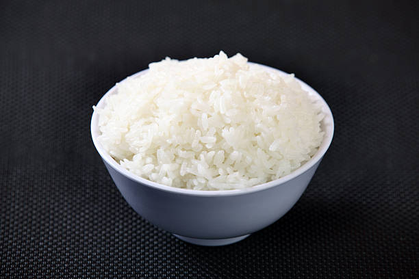 White Steamed Rice stock photo