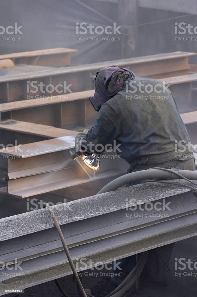 white steel stock photo