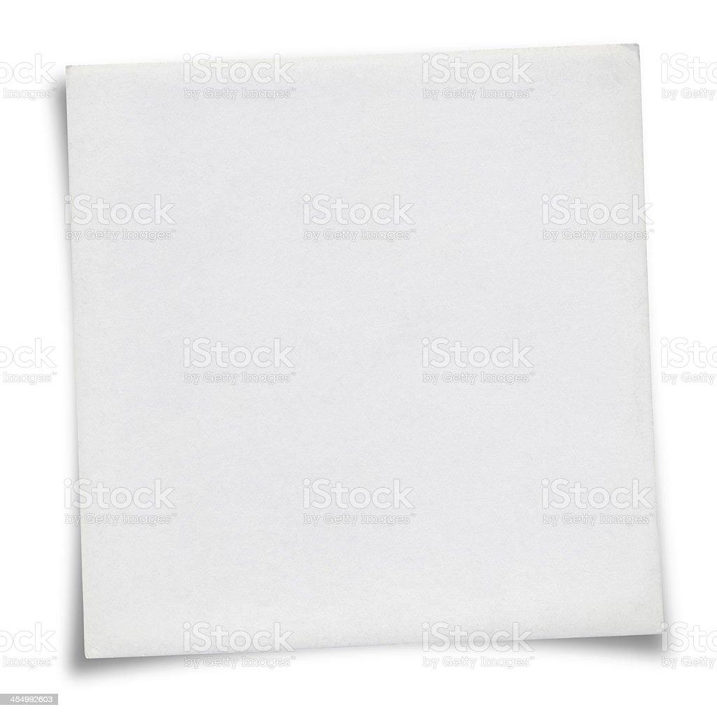 White Sticky Note royalty-free stock photo