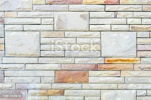 Stone brick wall for background
