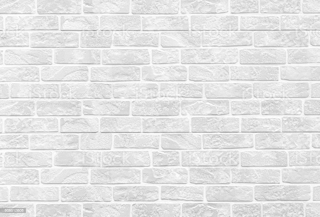 White stone brick wall texture and background seamless stock photo