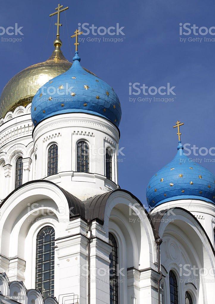 white stone church stock photo