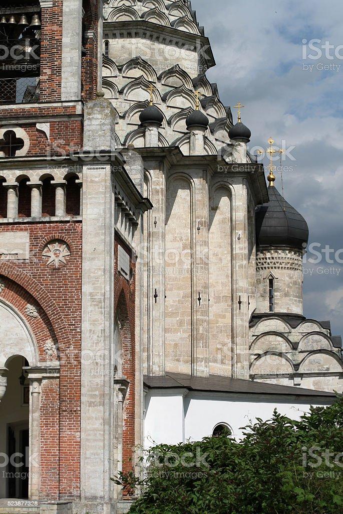 white stone church, the dome stock photo