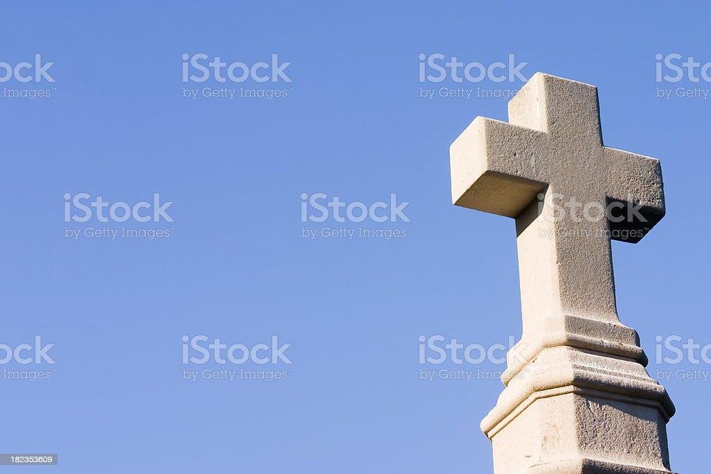 White Stone Cross stock photo
