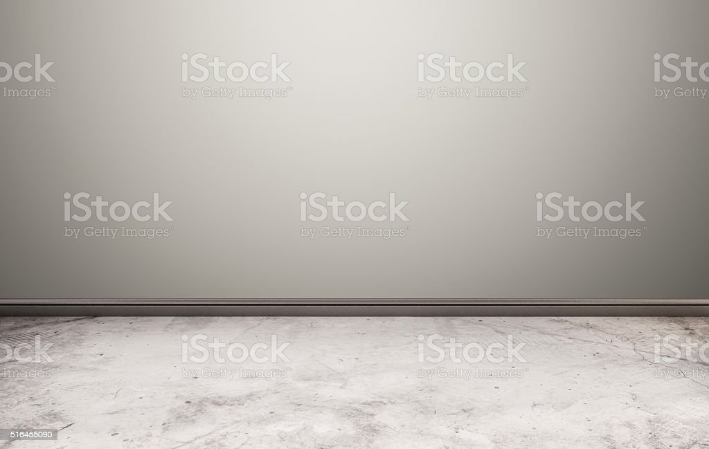 White stone floor with grey wall stock photo