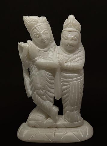 White Stone Radha Krishna Idol Is The Hindu Goddess Of Represent
