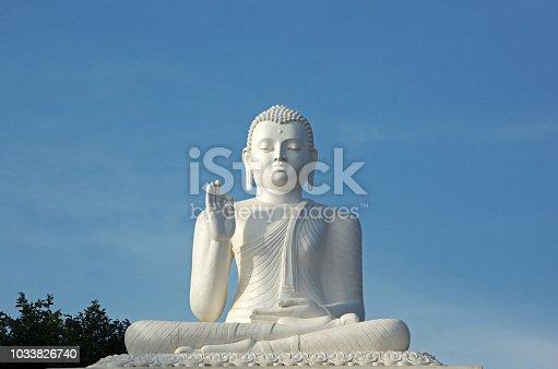 White Stone Statue of Buddha in