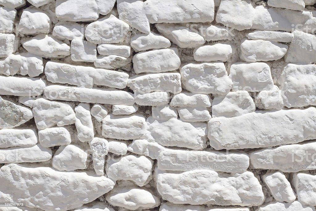 White Stone Wall Texture, Background royalty-free stock photo