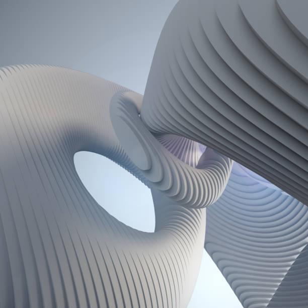 White stripe pattern futuristic background. 3d render illustration stock photo