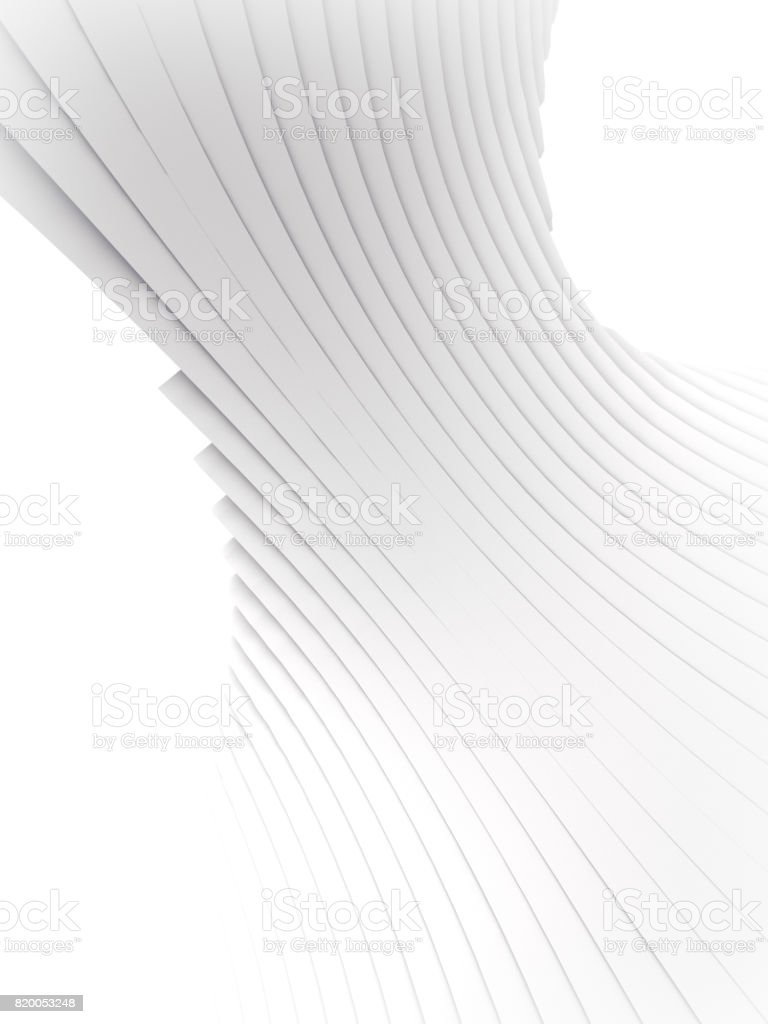 White stripe pattern futuristic background. 3d render illustration stock photo